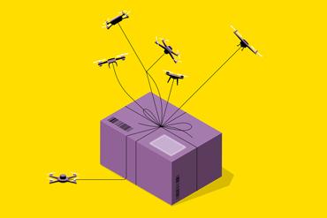 Drone parcel service